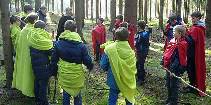 """""""Nordmänner""""-Training im Wald (Foto: Gotter)"""
