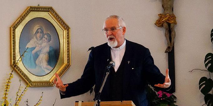 P. Elmar Busse, Referent beim Männertag in Aulendorf (Foto: Näßler)