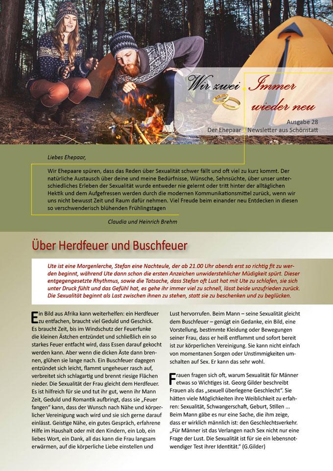 "Ehepaar-Newsletter 04/2015 ""Wir zwei - Immer wieder neu"" (Foto: © mikhail_kayl - Fotolia.com)"