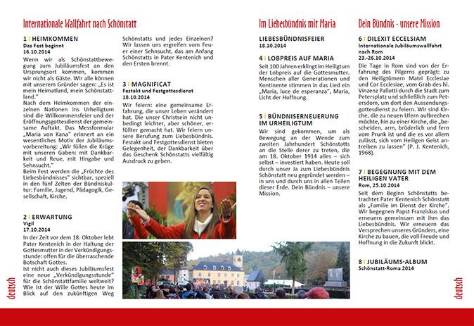 Jubiläums-DVD: Booklet-Doppelseite