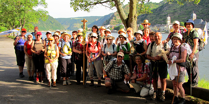 Pilger aus dem Bistum Freiburg am Mittelrhein (Foto: Pilgerwege-Schoenstatt)