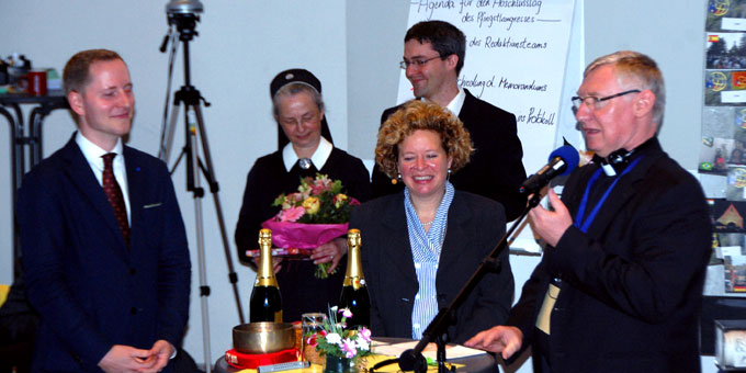 Dank an das Moderatorentea: Christiane Rohn und David Brähler (r) (Foto: Brehm)