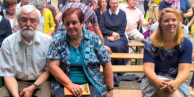 Teresa Rohrbeck (r) und Gabriele und Michael Rohrbeck (Foto: Brehm)
