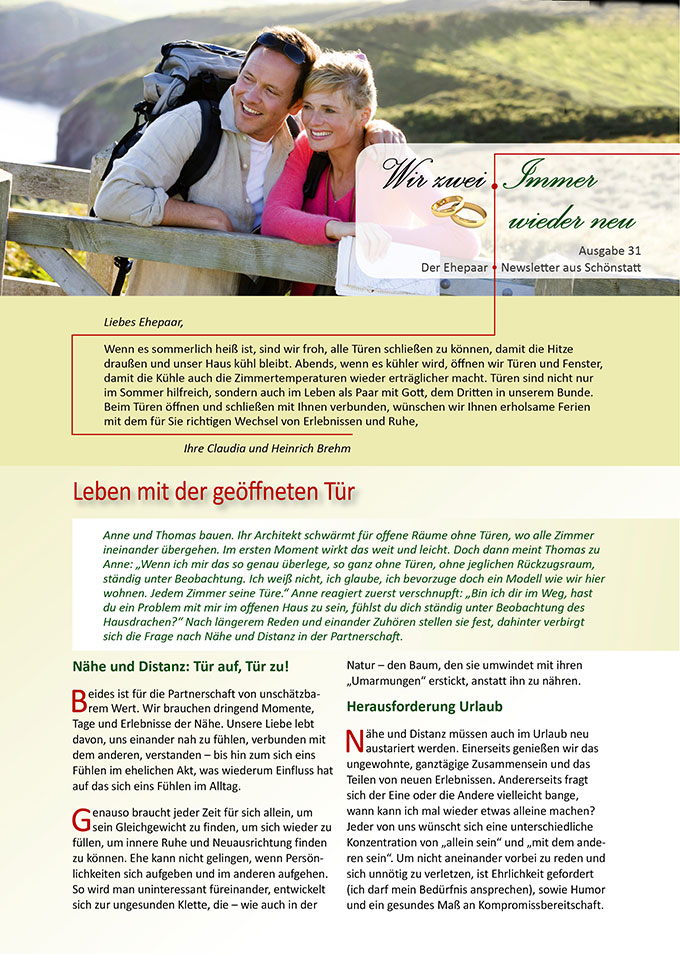 "Ehepaar-Newsletter 07/2015 ""Wir zwei - Immer wieder neu"" (Foto: © MonkeyBusiness - fotolia.com)"