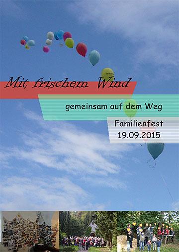 Familienfest in Schönstatt, Flyer