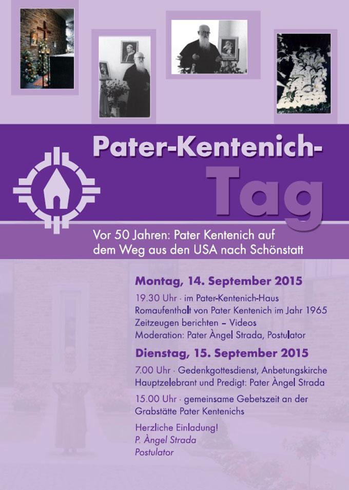 Pater-Kentenich-Tag 2015, Plakat