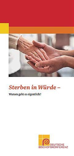 """Flyer der Deutschen Bischofskonferenz """"Sterben in Würde - Worum geht es eigentlich?"""" (Foto: dbk.de)"""