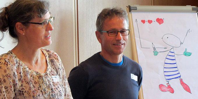 Das Referentenpaar aus der Schweiz (Foto: Lämmle)