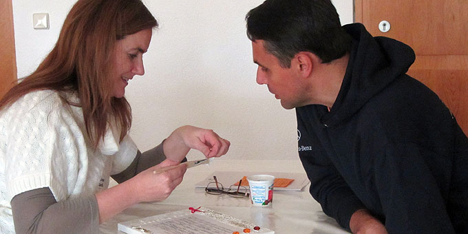 Paar-Workshop beim Tag zu zweit im Schönstatt-Zentrum Liebfrauenhöhe (Foto: Lämmle)