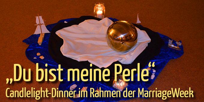 """Candlelight-Dinner im Haus der Familie: """"Du bist meine Perle"""" (Foto: Brehm)"""