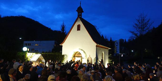 Maieröffnung am Urheiligtum in Vallendar-Schönstatt (Foto: Pilgerzentrale)