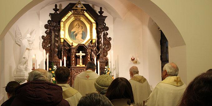 Dank und Abschied von Pater Georg Ritter im Mitgründerheiligtum, Liebfrauenhöhe (Foto: Klink)