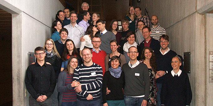 Die Teilnehmerinnen und Teilnehmer des Ehevorbereitungsseminares über Ostern in Vallendar-Schönstatt (Foto: Schneider)