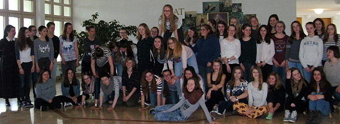 Ein erfreulich großer Kurs für Gruppenleiterinnen in den Osterferien (Foto: MJF)