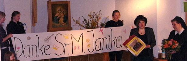 Danke Sr. M. Janika (Foto: MJF)