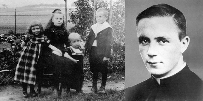 Fritz Esser (rechts und dritter von links) mit Geschwistern im Garten hinter dem Elternhaus (Foto: Archiv)