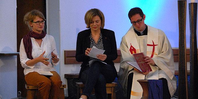 Steffi Hoffmann, Julia Klöckner und Frank Blumers (Foto: Brehm)