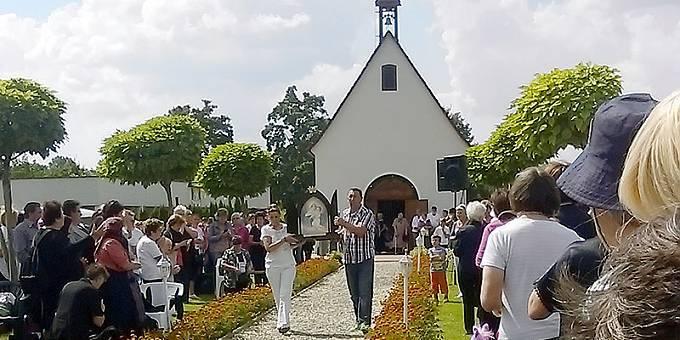 Tag der Pilgernden Gottesmutter beim Heiligtum in Kroatien (Foto: Sr. M. Ramona Schneider)