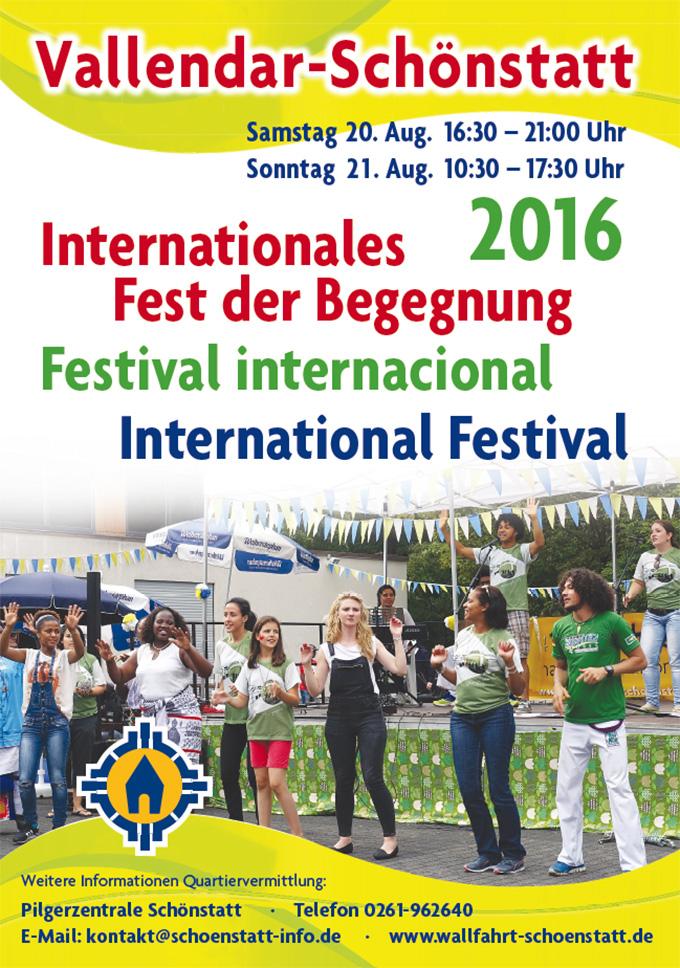 Plakat: Internationales Fest der Begegnung in Schönstatt