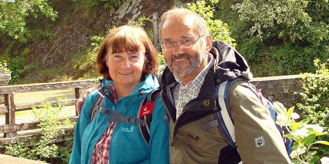 Die Wanderführer: Ehepaar Steffens (Foto: Brück)