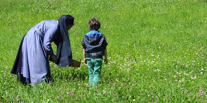 Viele Blumen müssen im Vorfeld gesammelt werden, dass ... (Foto: Pilgerzentrale)
