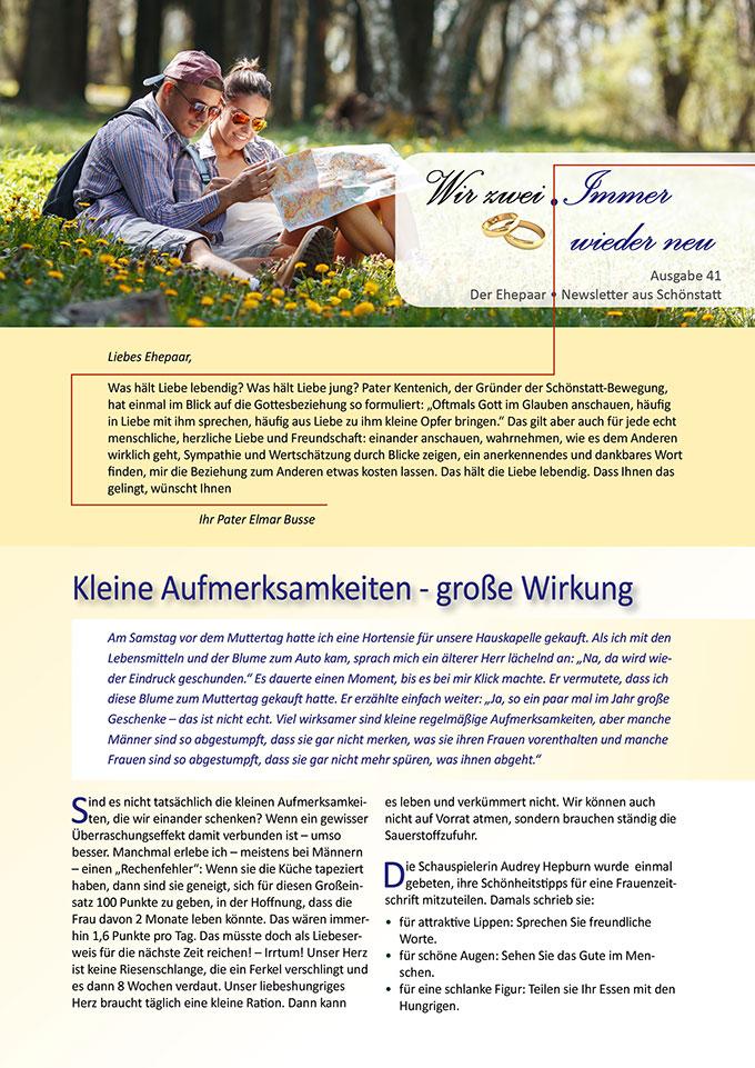 """Ehepaar-Newsletter 05/2016 """"Wir zwei - Immer wieder neu"""" (Foto: © SolisImages - Fotolia.com)"""