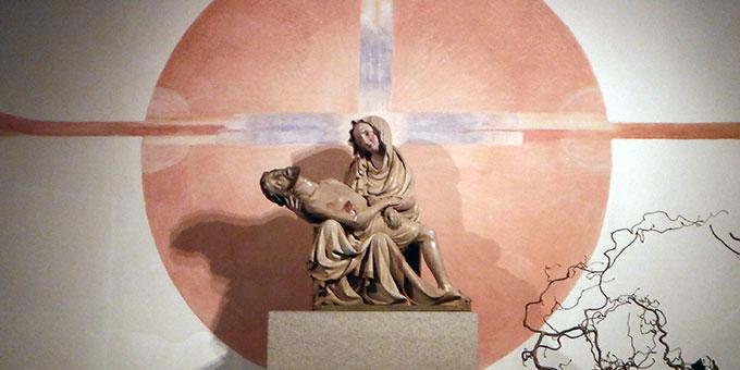 Gnadenbild der Schmerzhaften Muttergottes in der Abtei und Wallfahrtskirche Marienstatt (Foto: Herter)