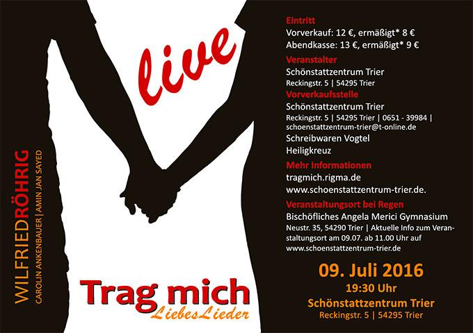 """Handzetter Konzert """"Trag mich - Liebeslieder"""""""