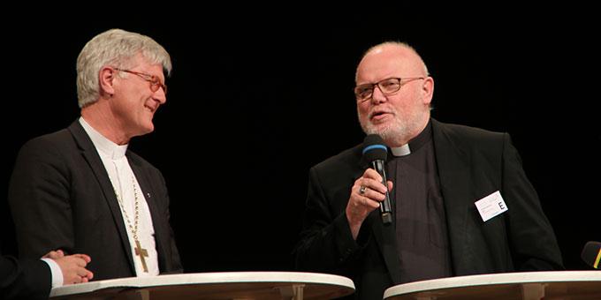 Dialog zwischen den Vorsitzenden der beiden großen Kirchen in Deutschland (Foto: MfE, Foto: Haaf)
