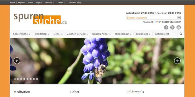 Spurensuche-Homepage