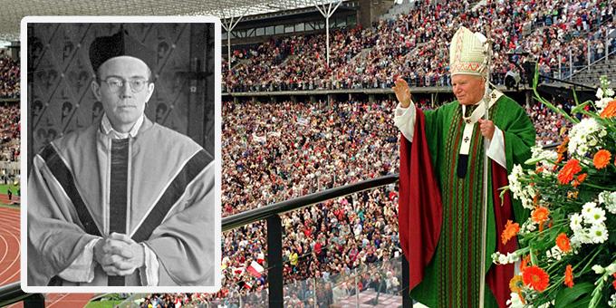 Papst Johannes Paul II. hat Karl Leisner am 23. Juni 1996 im Olympiastadion in Berlin selig gesprochen (Foto: Archiv/DPA)
