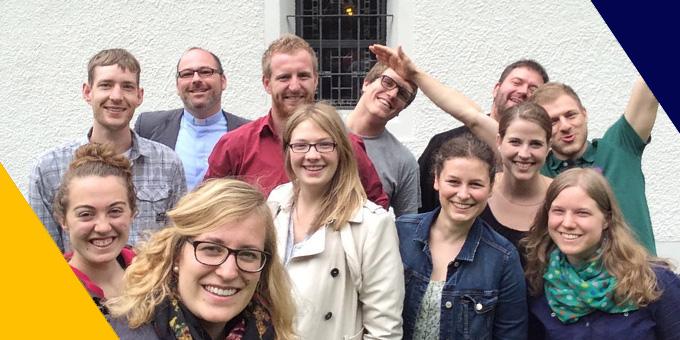 Das erste Kernteam-Selfie mit dem UH. (Foto: R. Reich)