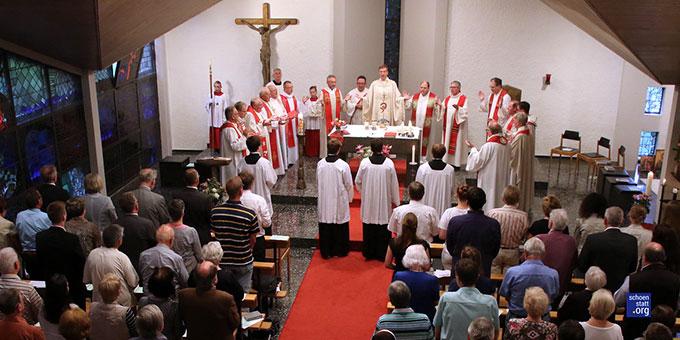 Letzter Gottesdienst im Spätberufenenseminar St. Pirmin in Sasbach bei Achern (Foto: Roland Spether)