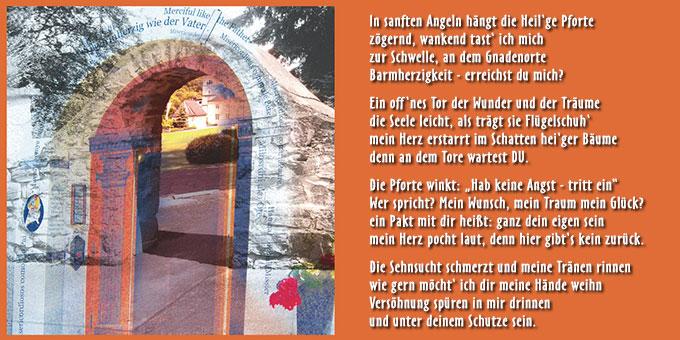 Beitrag zum Thjema Barmherzigkeit (Foto&Text: Beate)