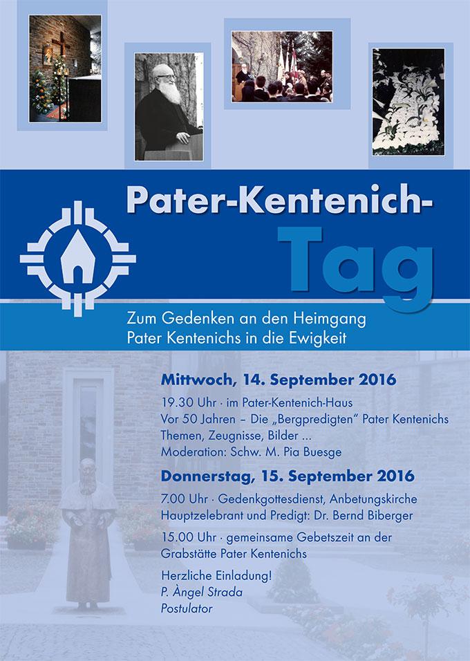 Pater-Kentenich-Tag 2016, Plakat (Foto: Sekretariat Pater Josef Kentenich)