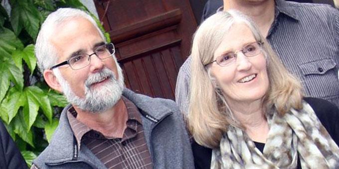 Marge und Mike Fenelon beim Heiligtum der Familien in Vallendar-Schönstatt (Foto: Mucha)