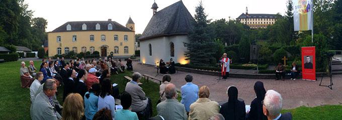 Statio beim Urheiligtum in Vallendar-Schönstatt zum Todestag von P. Franz Reinisch am 21. August 2015 (Foto: Nachtsheim)