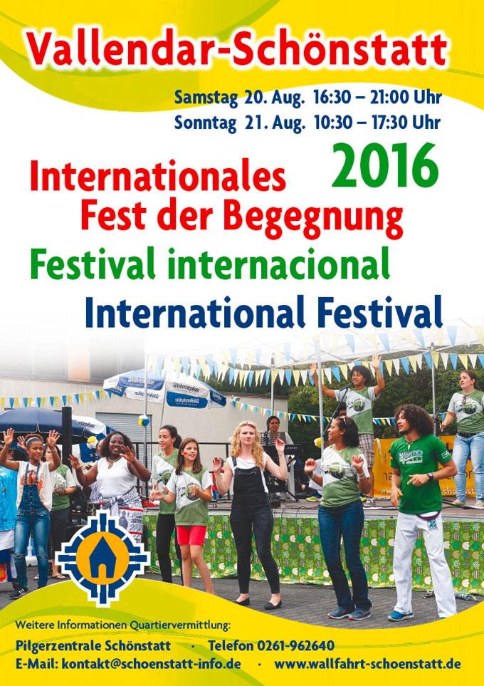 Plakat Internationale Begegnung 2016 (Foto: Pilgerzentrale)