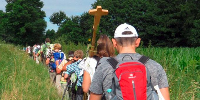 Auf dem Pilgerweg von Drusenheim nach Marienthal (Foto: Gmeiner)