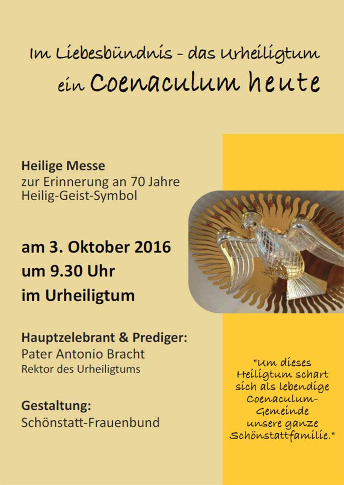 Plakat 3./4. Oktober 2016 (Foto: Schönstatt-Frauenbund)