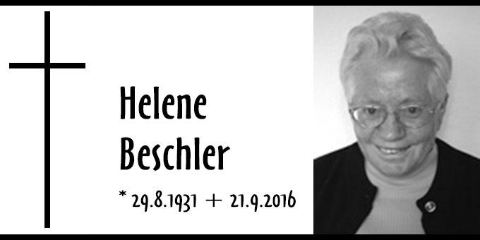 Todesanzeige Helene Beschler (Foto: FvS)