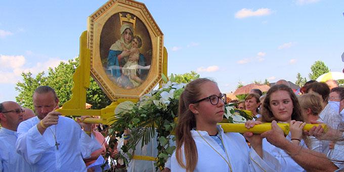 """Maria wurde in Kroatien zur """"Königin der Herzen"""" gekrönt  (Foto: Herrmann)"""