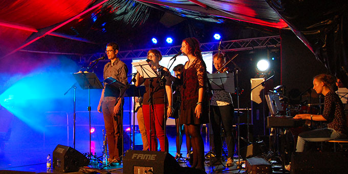 Musikgruppe: Kerosin & Seraphim (Foto: Brehm)