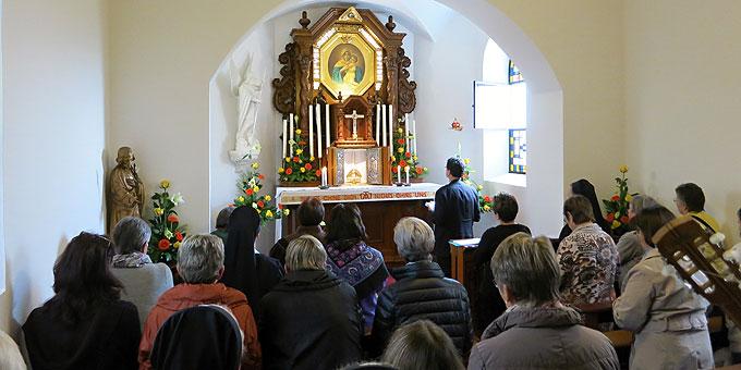 Ankommzeit im Heiligtum, Jahreskonferenz Schönstattbewegung Frauen und Mütter (Foto: Reiling)