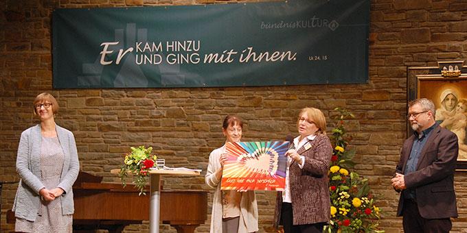 Das Oktober-Treffen der Schönstatt-Bewegung Deutschland findet in der Aula der Anbetungskirche auf Berg Schönstatt statt (Foto: Brehm)