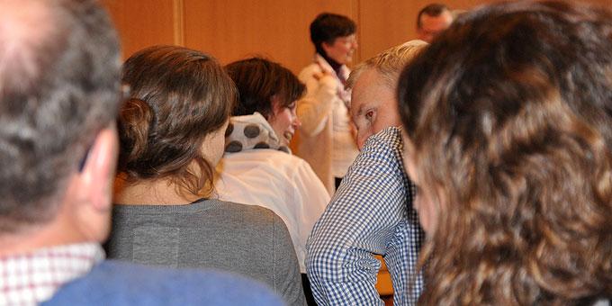 Reaktionen der Paare bei den Ausführungen von Brehms (Foto: SAL)