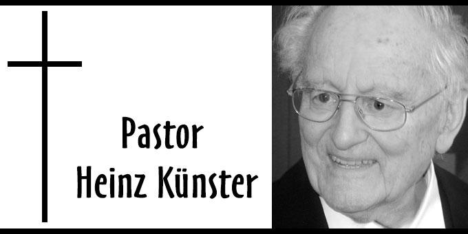 Nachruf Pastor Heinz Künster