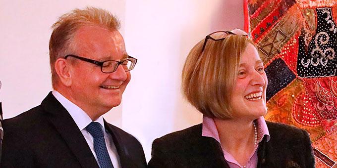 Ehepaar Birgit und Corbin Gams bei der Trumauer Fachtagung 2017 (Foto: Berger)