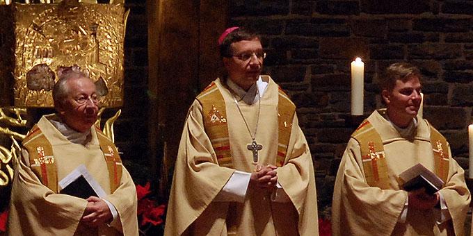 Mons. Dr. Peter Wolf, Weihbischof Dr. Michael Gerber, Dr. Christian Löhr (Foto: Brehm)