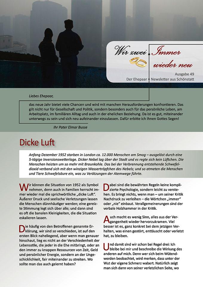 """Ehepaar-Newsletter 01/2017 """"Wir zwei - Immer wieder neu"""" (Foto: © wanchanta fotolia.com)"""